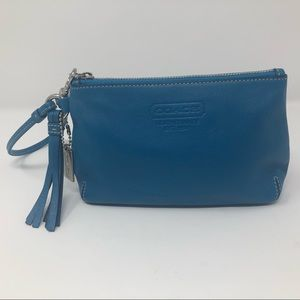 Coach Teal Leather Classic Wristlet